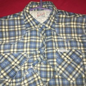 """True religion button up """"thick"""""""